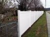 ...the new fence created a more stylish, solid barrier on a busy road.