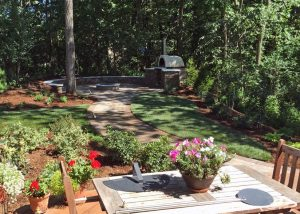 Paver & Brick Landscaping with Fireplace