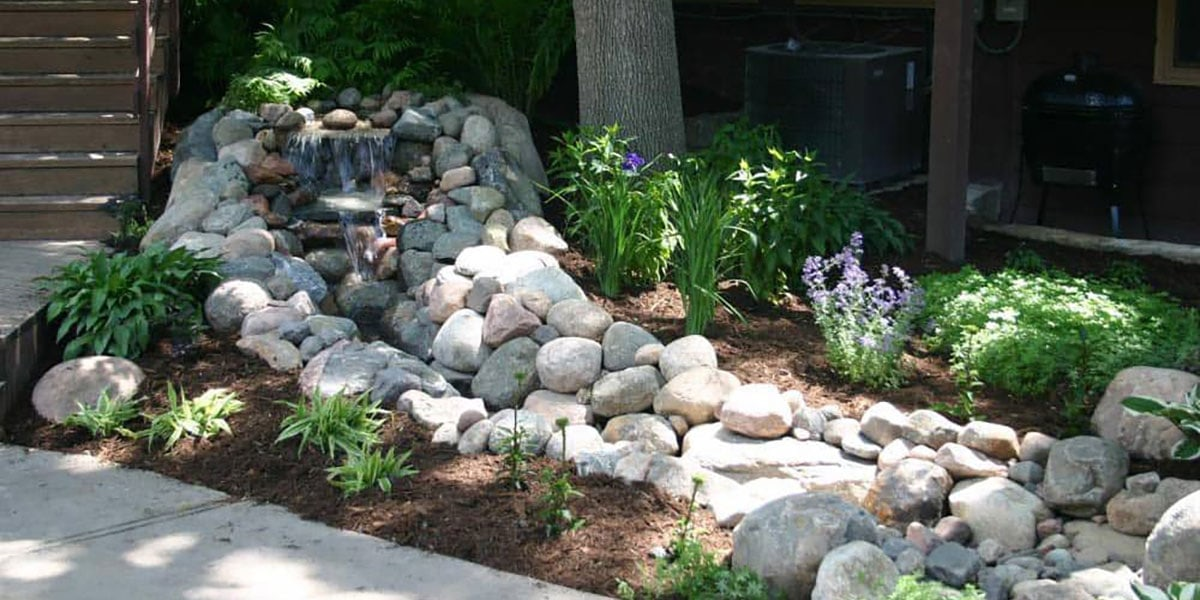 Winona Nursery Pondless Waterfall